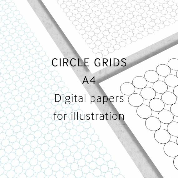 i love grids u00aecircle grid paper a4 digital paper by ilovegrids