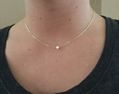 Opal Choker Necklace, Opal Bead on a .925 Sterling Silver Chain • Perfect Opal Necklace for Kid's and Adults • 4mm Opal Bead • Super Cute