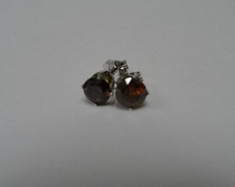 14k White Gold 5mm Round Cut Garnet Post Earrings Stud Earrings Jewelry January Birthstone