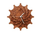 horloge murale en bois - Cogwheel noyer