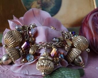 One of a Kind Bits & Baubles Vintage Charm Bracelet