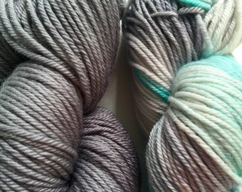 """Hand Dyed in Mahalo Worsted 100% Super Wash Merino Wool """"So Happy Together"""""""