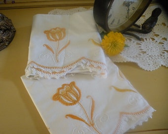 Sunny Cottage Flowers Pillowcase Pair