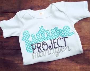 Future Project Manager Embroidered Onesie or Shirt - Future Project Manager