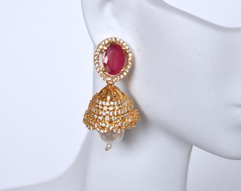 Jhumkis | Indian Jewelry | Indian Earrings | Gold plated