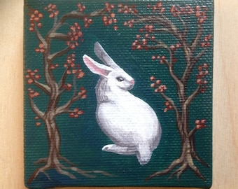 Tiny Bunny Painting, Made to Order