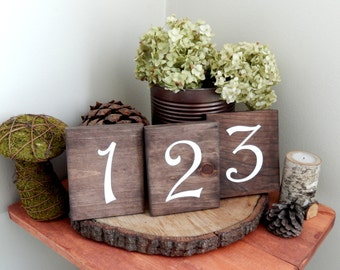 Wood Table Numbers Wedding Table Numbers Rustic Table Numbers Woodland Table Numbers Garden Table Numbers