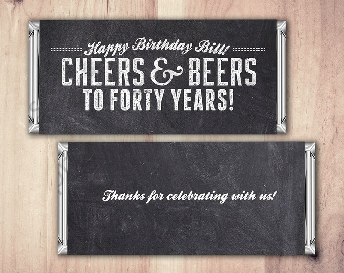 ANY AGE, Cheers and Beers favor, beer, 21st, 30th, 40th, 50th, 60th, 70th, Surprise Birthday Party Invitation, adult birthday, cheers,