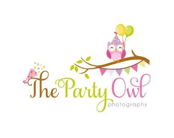 Custom Logo Design Premade Logo for Photographers - owl logo photography logo graphic design business logo party logo photographers logo
