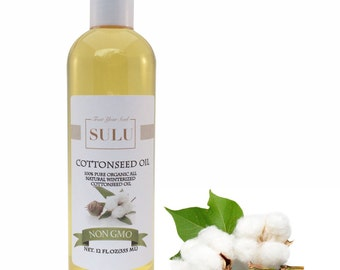 100% Pure Organic Winterized Cottonseed Oil All Natural from 4 oz up to 7 lbs