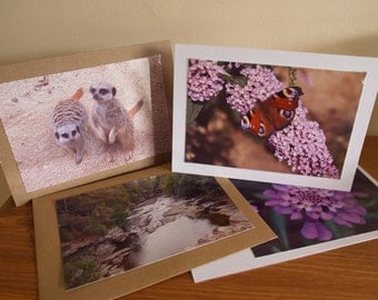 Photo Notecards, Photo Greetings Cards, Set of 4 Notecard/Greeting Cards, Set of Photo Note Cards,