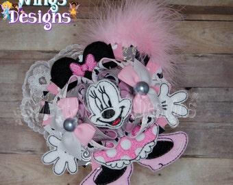 Pink Minnie OTT Hairbow