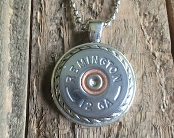 Shotgun shell jewelry ~12 gauge necklace ~ shabby chic, unique jewelry pieces, bridesmaid gifts, rustic wedding pieces, maid of honor gifts!