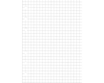 20 sheets of A6 grid paper
