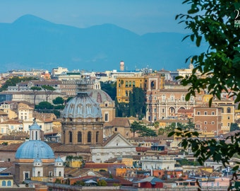 Picture of Rome, view from Il Gianicolo, Italy, Photo of Rome, Italian art, Italian pics, Italy canvas, Rome canvas, Picture on canvas