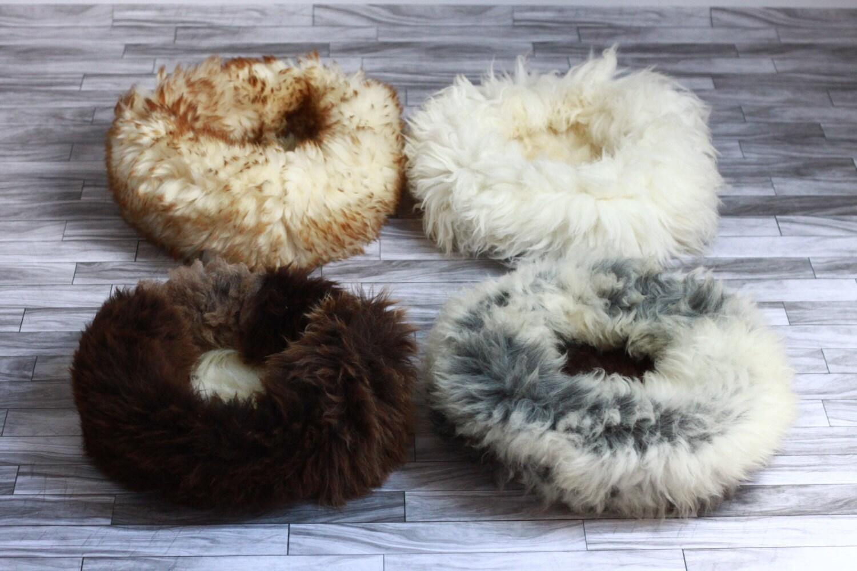 Real Sheepskin Dog Bed