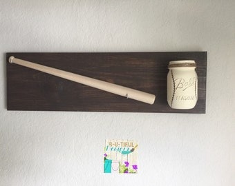 Baseball Wall Decor. Baseball Nursery Decor. Baseball Room Decor. Baseball Mason Jar.