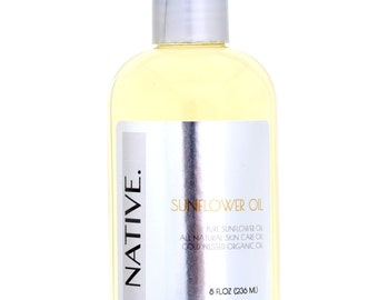 Pure Sunflower Oil High Quality Organic Cold Pressed Oil All Natural by Native.