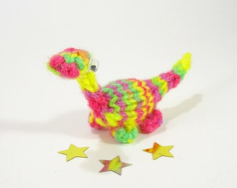 Birthday Miniature Dinosaur Knitted Green 18th by Suzzlescraft