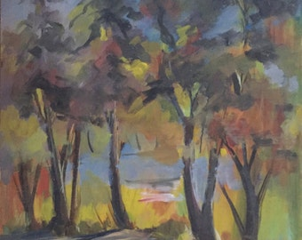 Will Frates 1940's Vintage California Landscape Original Painting