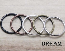 25mm Round Split Rings for Key Ring and Key Chains- 1 Inch Key Ring Loops - Keychain Fobs - Key Chains