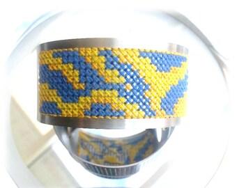 Cross stitch bracelet