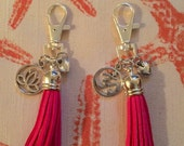Tassel Keychain Charms - Lotus or Om