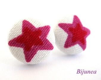Star earrings - Pink Star studs - Star sky- Stars - Cute Star earrings - Star post earrings - Star stud earrings sf888