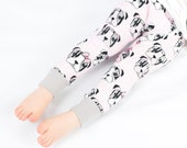 25% off *** Organic|Leggings|Baby Toddler|Girls stretch cuff|Pink bulldog puppy dogs