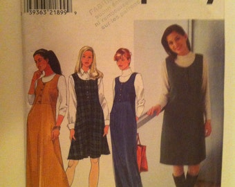 Simplicity 8225 Sewing Pattern Women Jumper 1998