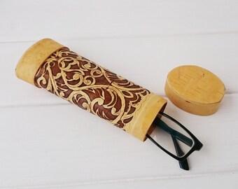 Hard Glasses Case, Eyeglass Case Hard, Sunglasses Hard Case, Eye Glass Case, Wooden Handbag Eyeglass Holder, Gifts under 15, Handmade Case