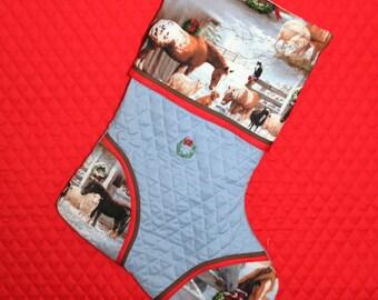 Horse 2 Handmade Custom Christmas Stocking