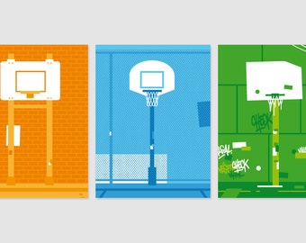 Print - Offers special 3 Posters - Playground - No1, No2 and No3