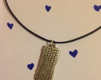 Keyboard charm choker or necklace on black cord