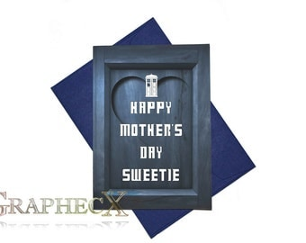 Fan-made Doctor Who inspired Mother's day Father's day card