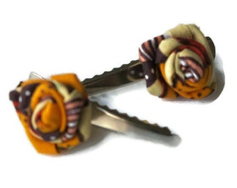 Mini Hair Clips (Ankara)/Gifts for her
