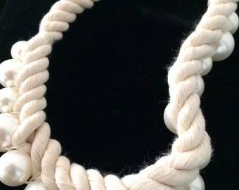 Rope Shell Pearl Choker