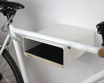 "Bikeshelf ""Velo-stop"" white/Black"