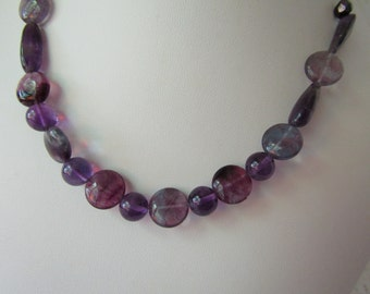 Deep Purple Necklace/Fluorite/ECS