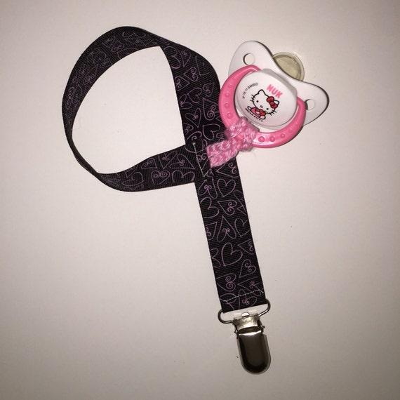 Princess Binky Clip Little Girl Pacifier Holder
