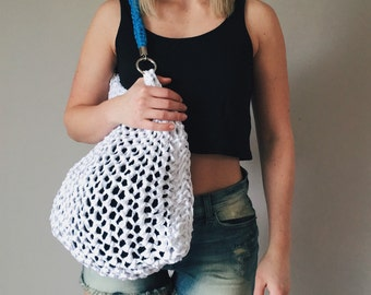 Knit Beach Tote // Stretchy Beach Bag // Cotton Tote // Gifts For Her // Beach Tote