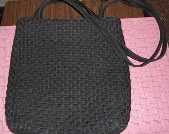 Vintage Hillard and Hanson Black Weave Shoulder Bag