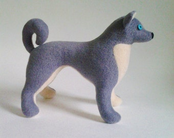Husky dog pattern, plush toy dog sewing pattern, soft toy dog pattern, stuffed dog pattern, animal pattern, sewing patterns, plush pattern