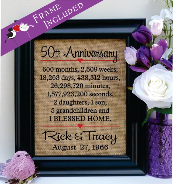 50th anniversary 50th wedding anniversary gift 50th With 6th year wedding anniversary gift ideas for him