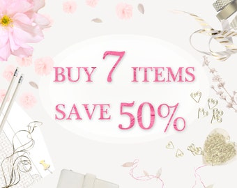 COUPON Buy 7 Items - Save 50%