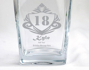 Personalised Birthday Scotch Glass -Any Age