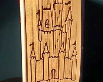 Fairytale castle cut and fold pattern book folding