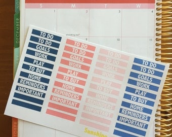 Navy and Coral Erin Condren Planner Stickers- Time of Day Labels