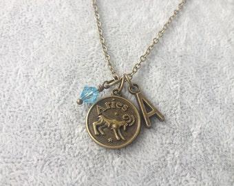 Aries necklace,zodiac Aries,Aries zodiac necklace,zodiac jewelry Aries,zodiac necklace,zodiac sign necklace,horoscope necklace,zodiac gifts