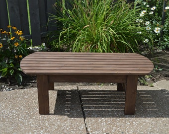 Pine Adirondack Coffee Table / Patio Table / Wood Table / Outdoor Table /  Patio Coffee
